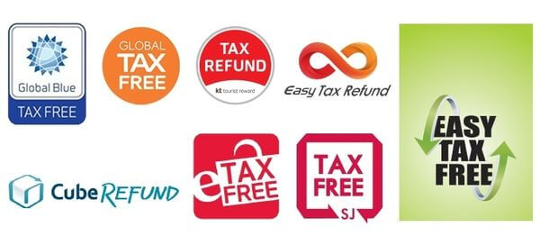 Logos of companies offering the tax refund service
