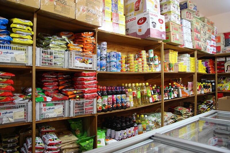 Groceries Korea in shop