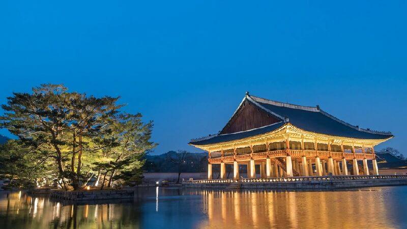 Scenery of Gyeongbokgung Palcae