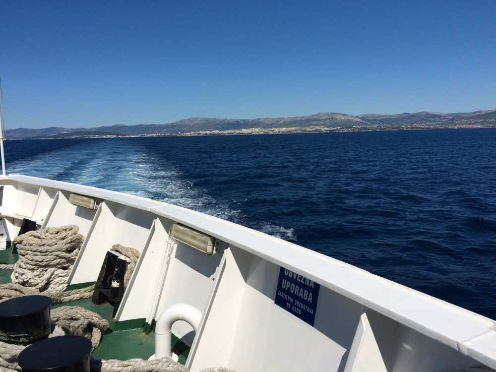 croatia road trip guide - ferry split to brac
