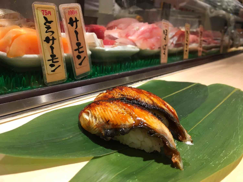 japan travel tips sushi unagi standing sushi bar