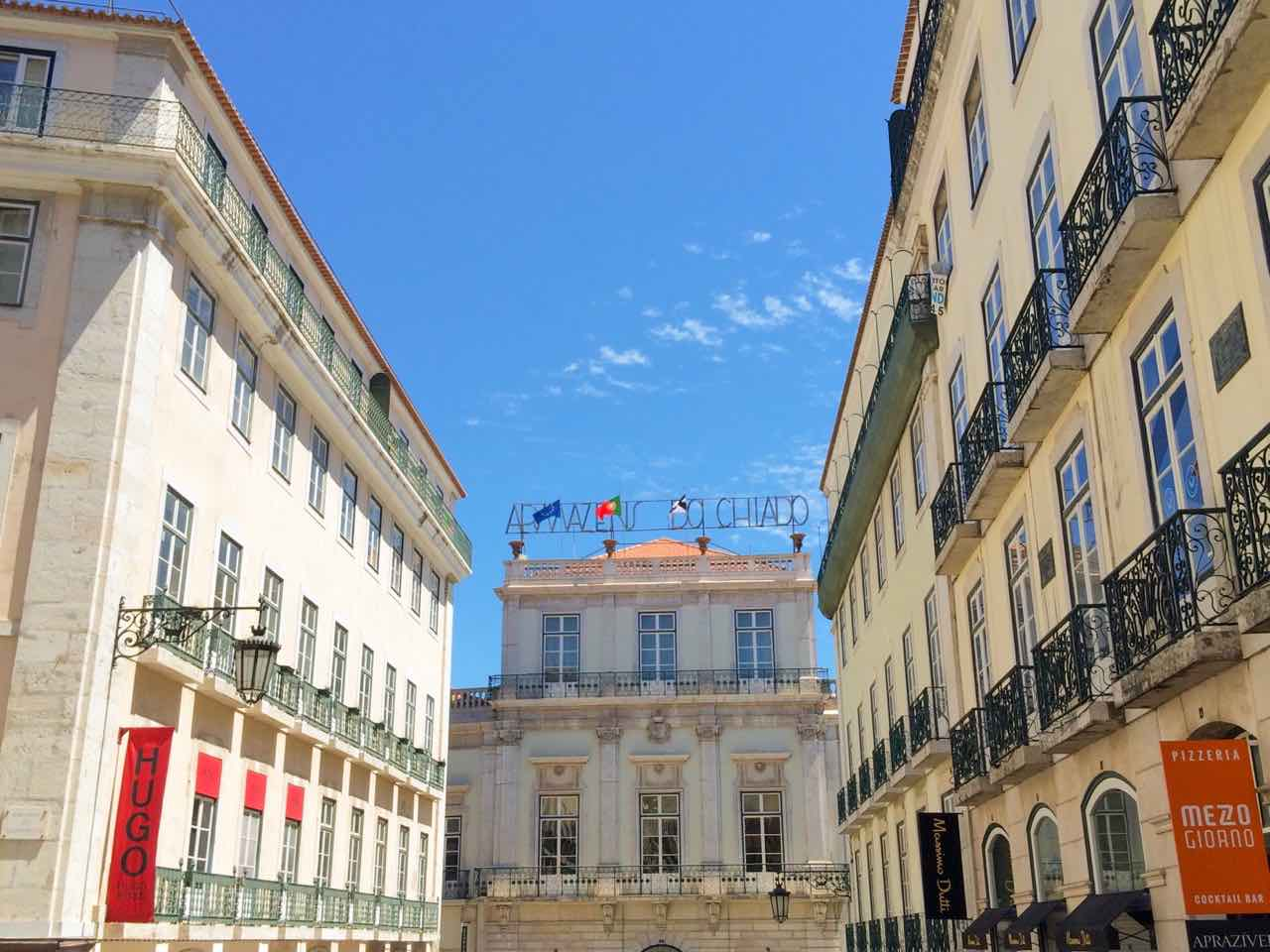 travel blog lisbon city guide lisboa portugal chiado rua garrett summer