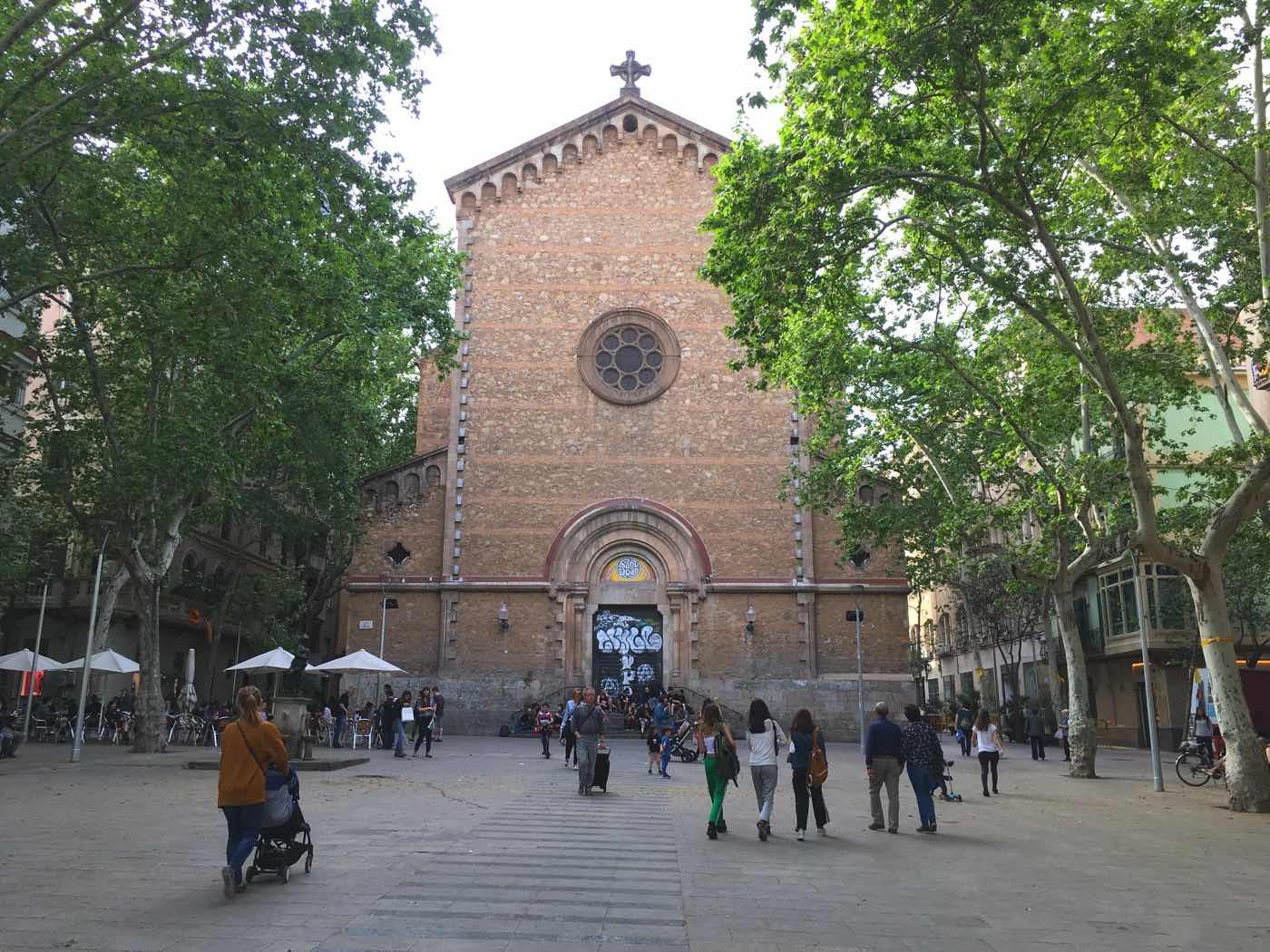 plaza in Gracia Barcelona